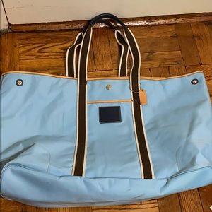 Coach signature blue spacious travel bag/ handbag